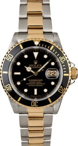 Used Rolex Submariner 16613 Two Tone Oyster Perpetual