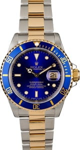 Rolex Submariner 16613 Two Tone with Blue Dial