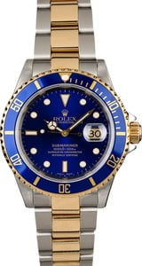 Pre-Owned Rolex Blue Dial Submariner 16613