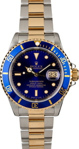 Pre-Owned Rolex Submariner 16613 Blue Insert