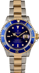 Rolex Submariner 16613 Blue Dial Two Tone Bracelet