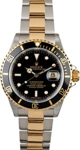 Rolex Submariner 16613 Black Dial with Two Tone Oyster
