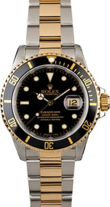 Rolex Submariner 16613 Two Tone Oyster with Black Dial