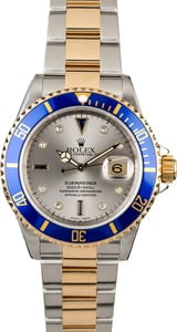 Rolex Submariner 16613 Serti Dial with Two Tone Oyster