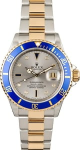 Used Rolex Submariner 16613 Serti Dial