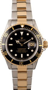 Men's Rolex Submariner 16613 Black Insert