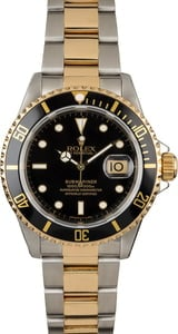 Used Rolex Submariner 16613 Two Tone Diving Watch