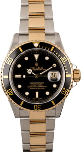 Rolex Submariner 16613 Two Tone Oyster Perpetual