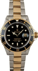 Used Rolex Submariner 16613 Black Insert