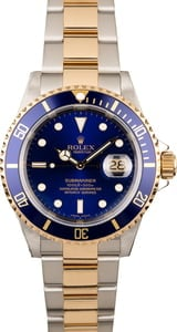Used Rolex Blue Dial Submariner 16613