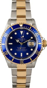 Certified Rolex Submariner 16613 Blue Insert