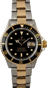 Used Rolex Submariner 16613 Black Dial Two Tone Watch