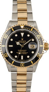 Used Rolex Submariner 16613T Two Tone Oyster