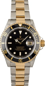 Certified Rolex Submariner 16613 Two Tone Diving Watch