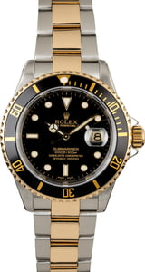 Rolex Submariner 16613 with Black Luminous Dial