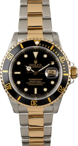 Men's Rolex Submariner 16613 Black Dial Two Tone Watch
