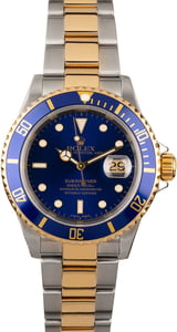 Pre-Owned Rolex Submariner 16613 Blue Diver's Bezel