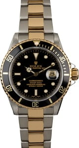 Used Rolex Submariner 16613 Black Luminous Dial
