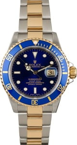 Used Rolex Submariner 16613 Blue Diver's Bezel
