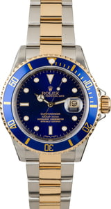 Used Rolex Submariner 16613 Blue Luminous Dial