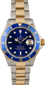 PreOwned Rolex Submariner 16613 Blue Dial Two Tone Watch