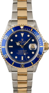 PreOwned Rolex Submariner 16613 Blue Diver's Bezel
