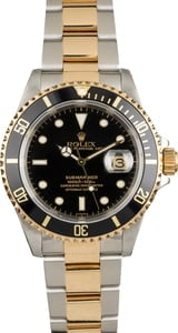 Used Rolex Submariner 16613 Two Tone Oyster Bracelet