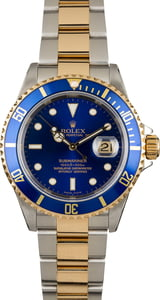 Used Rolex Submariner Blue Dial 16613