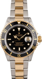Pre-Owned Rolex Submariner 16613 Black Dial Two Tone Watch