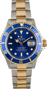 Used Rolex Submariner 16613 Two Tone with Blue Bezel