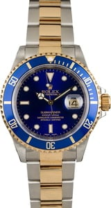 Used Rolex Submariner 16613 Two Tone Oyster Band