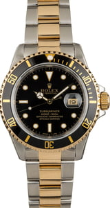 PreOwned Rolex Submariner 16613 Black Tritium Dial