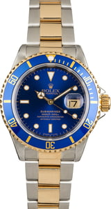 PreOwned Rolex Submariner 16613 Blue Tritium Dial