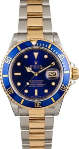 Pre-Owned Rolex Submariner 16613 Faded Blue Dial
