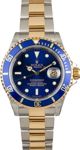 Pre Owned Rolex Submariner Blue Bezel 16613