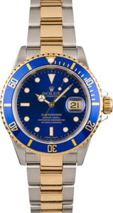Rolex Submariner 16613 Two Tone Oyster with Blue Dial