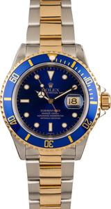 Pre-Owned Rolex Submariner 16613 Blue Timing Bezel Insert