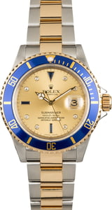 Pre Owned Rolex Submariner 16613 Serti Dial