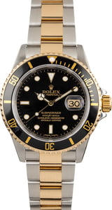 Pre-Owned Rolex Submariner 16613 Two Tone Oyster Band