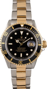 Used Rolex Submariner 16613 Black Tritium Dial