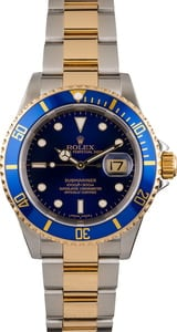 PreOwned Rolex Blue Dial Submariner 16613