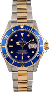 Rolex Submariner Two Tone 16613 Blue Tritium Dial