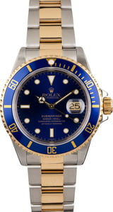 PreOwned Rolex Steel and Gold Submariner 16613