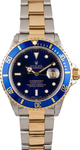 Used Rolex Blue Dial Submariner 16613 Two Tone