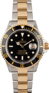 Men's Rolex Submariner 16613 Black Dial Two Tone