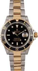 Used Rolex Black Dial Submariner 16613