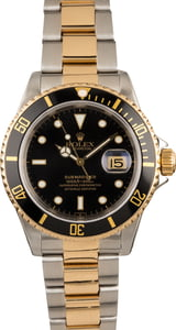 Used Rolex Submariner 16613 Two Tone Black Dial