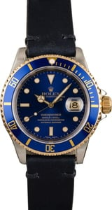 Pre-Owned Rolex Submariner 16613 Two Tone Blue Dial