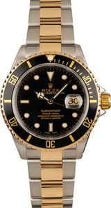 Used Rolex Submariner 16613 Black Luminous Markers