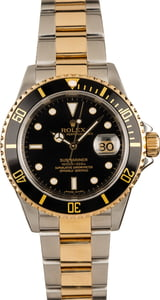 Rolex Black Submariner 16613 100% Authentic